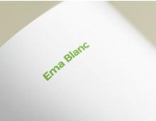 Ema-Blanc A4 Letterhead DIY Template MSWord