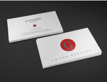 Initial Business Card DIY Template MSWord