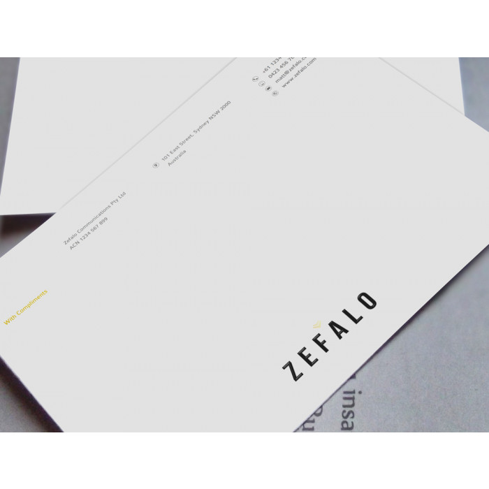 Brandaid Print Store  Msword With Compliments Slips Template Zefalo
